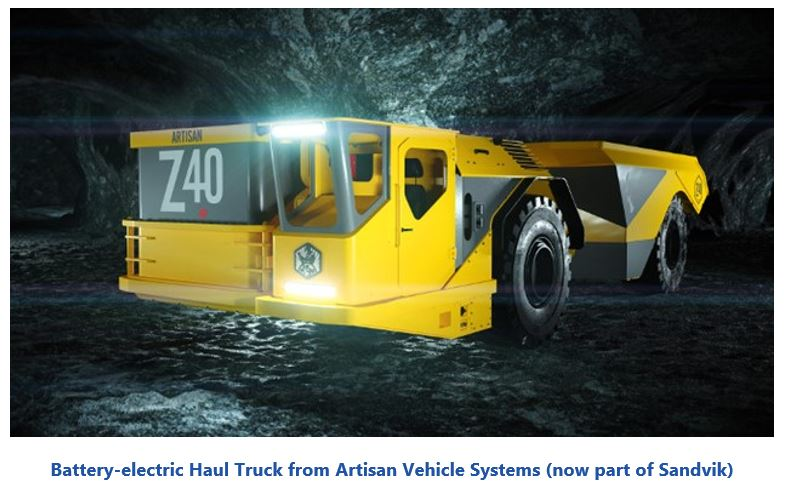 Electric Mining Vehicles  Battery-electric%20Haul%20Truck%20from%20Artisan%20Vehicle%20Systems.JPG