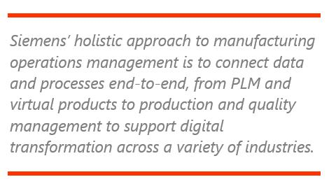 Siemens' Manufacturing Operations Management Solutions