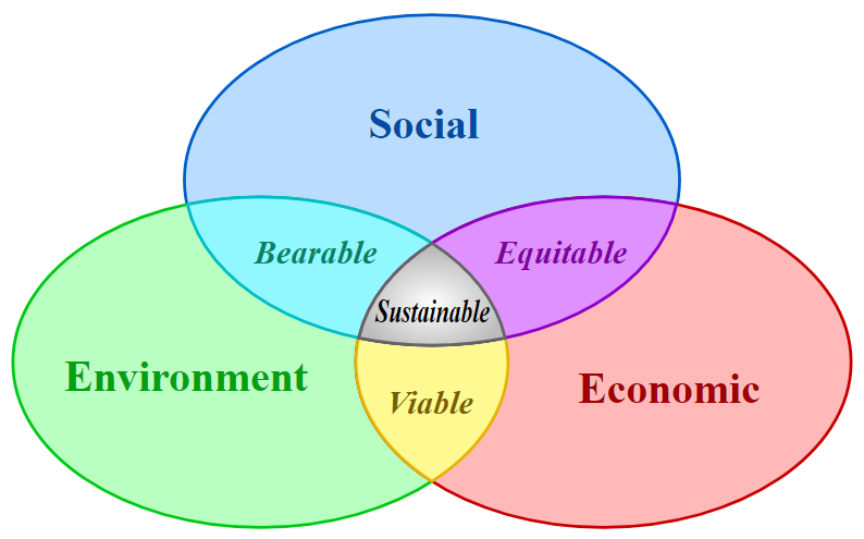 The Venn Diagram of the Three Pillars of Sustainability