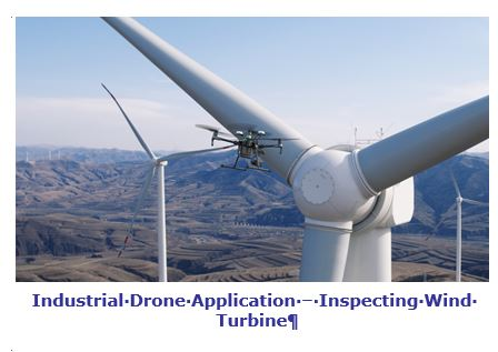 Industrial Drone Application – Inspecting Wind Turbine rrdrone.JPG