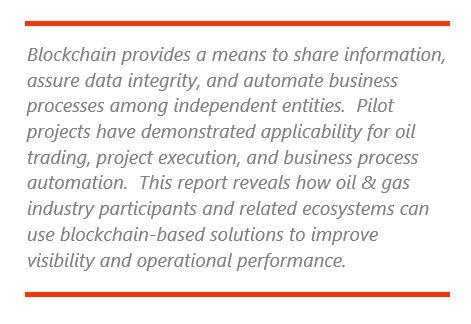 Unlocking Value with Blockchain in Oil & Gas | ARC Advisory