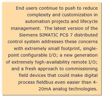 Siemens Simatic PCS 7 DCS Gets Major Upgrade with New I/O